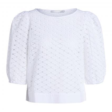 Bluse aus Lochspitze weiss (1002 optic white) | 40