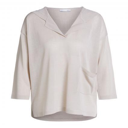 Feinstrick-Pullover mit Kapuze beige (7054 light stone)   42