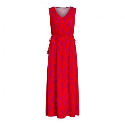 Kleid mit floralem Muster rot (0354 red violett) | 42