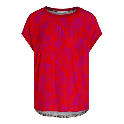 T-Shirt mit Muster-Mix rot (0357 red stone) | 46