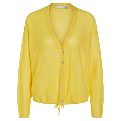 Strickjacke mit V-Ausschnitt gelb (2252 primrose yellow) | 44