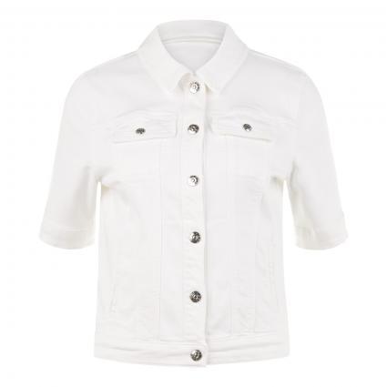 Jacke mit kurzem Arm weiss (1002 optic white) | 36