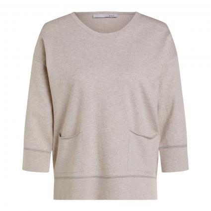 Pullover mit aufgesetzten Einschubtaschen beige (7057 light stone) | 38