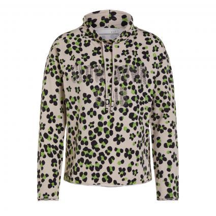 Sweatshirt mit All-Over Muster silber (0906 lt grey green) | 36