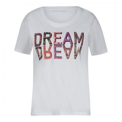 T-Shirt mit Print  weiss (1002 optic white) | 42