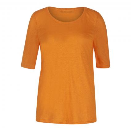 T-Shirt aus reinem Leinen  orange (2750 flame orange) | 38