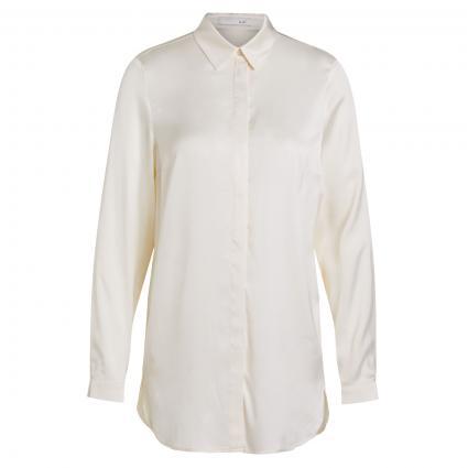 Fließende Bluse mit verdeckter Knopfleiste ecru (1034 offwhite) | 42
