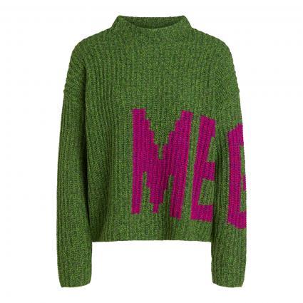 Pullover mit Stehkragen grün (0664 dk green violet)   42