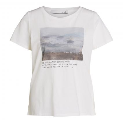 T-Shirt mit Print ecru (1006 cloud dancer) | 34