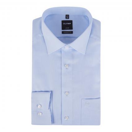 Modern-Fit Hemd mit Webmusterung blau (11 bleu) | 45