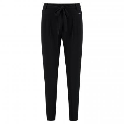Jerseyhose mit Bindegürtel schwarz (9999 black)   38