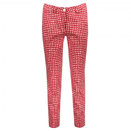 Pantalon 'River' avec motif All-Over rouge (862 red cube) | 44 | 28