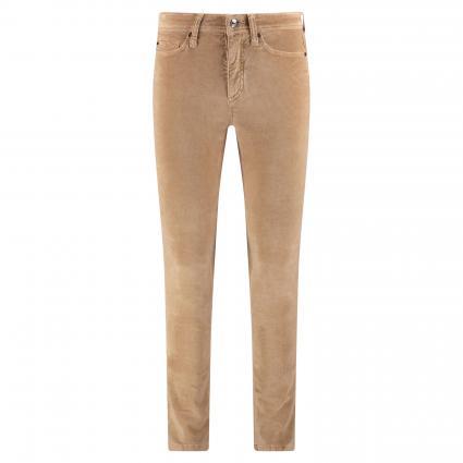 Slim-Fit Hose 'Parla' in Velours-Optik beige (722 camel) | 44 | 32