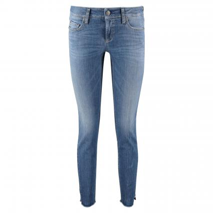 Slim-Fit Jeans mit Glitzer-Applikationen blau (5220 sophisticated u) | 46 | 29