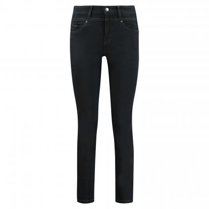Slim-Fit Hose 'Posh' schwarz/blau-schwarz (5412 cosy black over) | 36 | 29