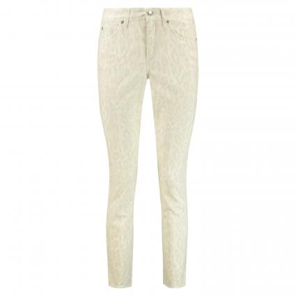 Slim-Fit Jeans 'Parla' mit Animal-Muster beige (834 soft beige leo) | 46 | 29