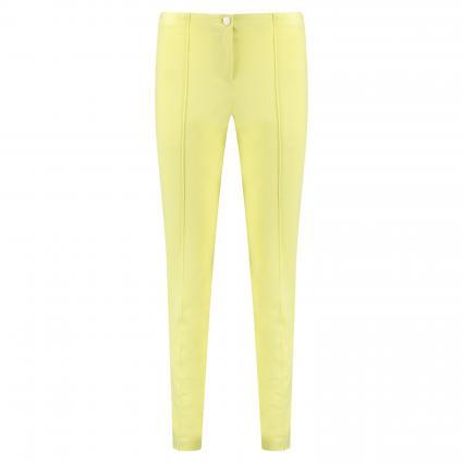 Slim-Fit Hose 'Ros' mit Biesendetails gelb (110 lime) | 42 | 29