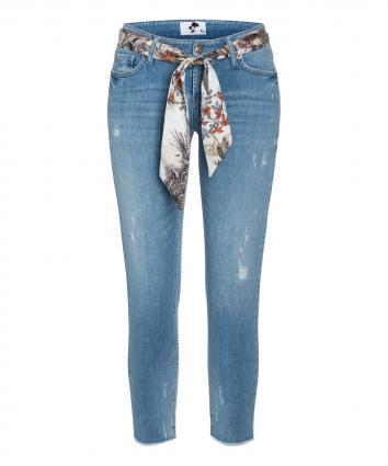 Verkürzte Jeans 'Liu Short' mit Destroyed-Details blau (5332 light summer de)   44   27