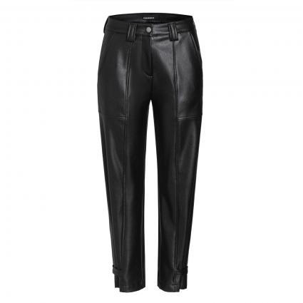 Schmale Hose 'Malin' in Leder-Optik schwarz (099 black) | 34 | 27