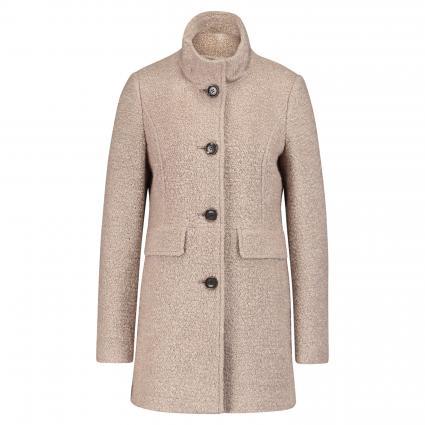 Mantel mit hohem Kragen taupe (8682 light taupe) | 36