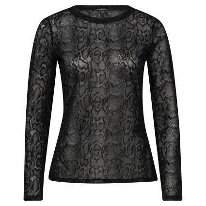 Langarmshirt mit Schlangen-Muster schwarz (9999 black) | 36