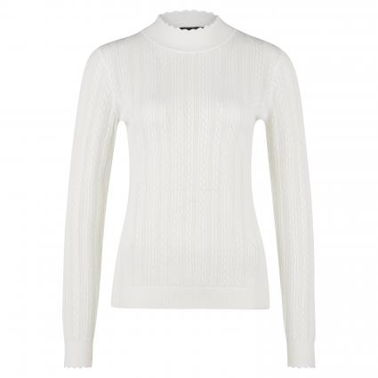Strickpullover mit Stehkragen  weiss (0120 white) | 40