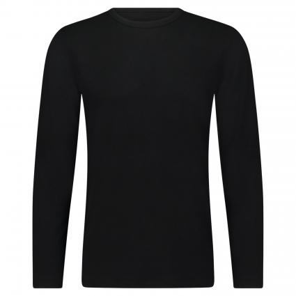 T-Shirt mit Rundhalsausschnitt schwarz (100 black) | S
