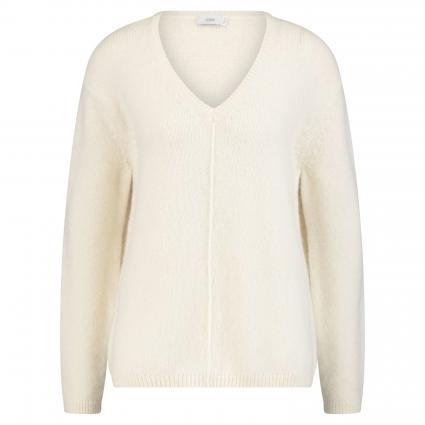 Pullover mit V-Ausschnitt ecru (218 ivory) | S