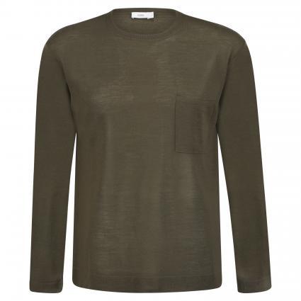 Pullover mit Rundhalsausschnitt grün (656 cypress) | XL