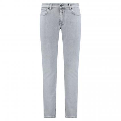 Slim-Fit Jeans in Used-Waschung silber (LGY light grey) | 33