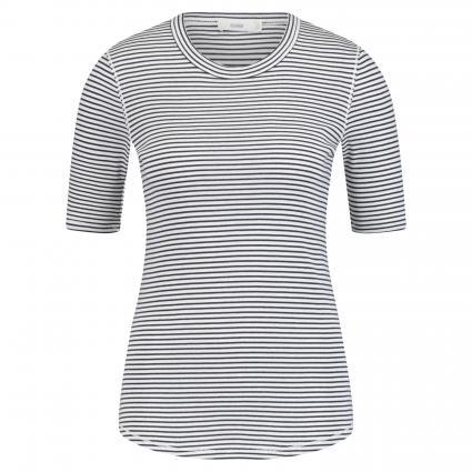 T-Shirt mit Ringelmuster ecru (218 ivory) | XL