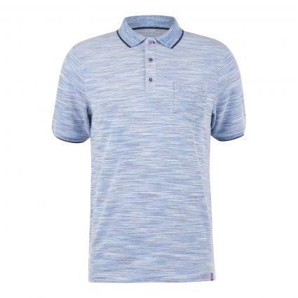 Poloshirt mit Brusttasche blau (912 COMBO 2)   M