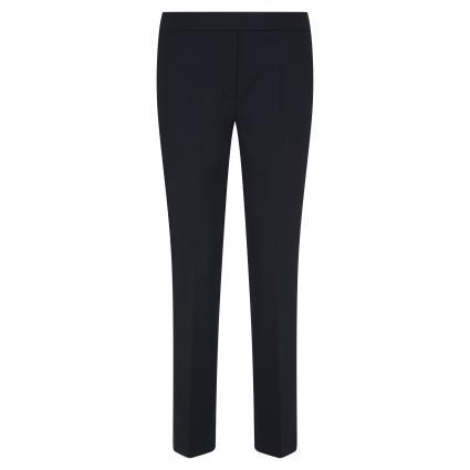 Schmale Hose mit Bügelfalten schwarz (1 black) | 36