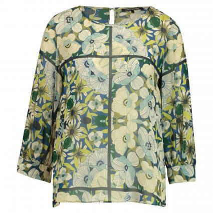 Fließende Bluse mit All-Over Muster oliv (3999 olive) | 38