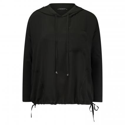 T-Shirt mit Kapuze  schwarz (1 black) | 38
