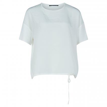 T-Shirt mit Bändchen am Saum ecru (104 off-white) | 42