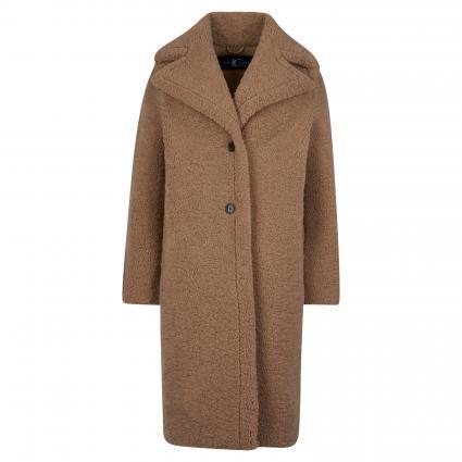 Mantel in Teddy-Optik beige (750 braun) | 38
