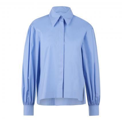 Bluse mit Ballonärmel blau (226 azure) | 42