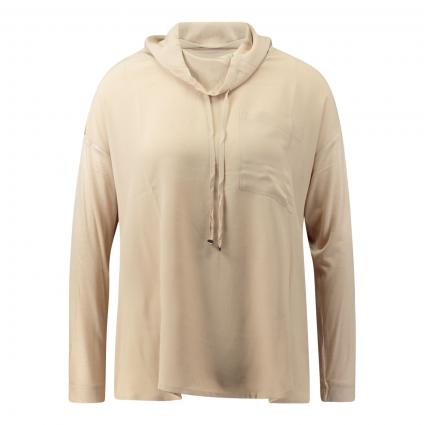 Blusenshirt aus Seidenmix beige (716 natural beige) | 40