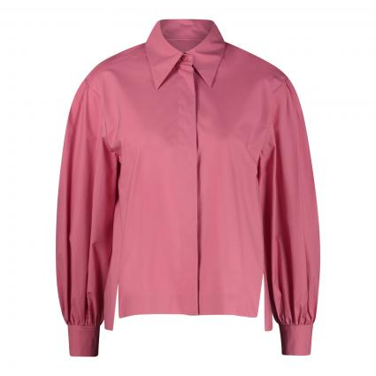 Bluse mit Ballonärmel pink (444 rose)   40