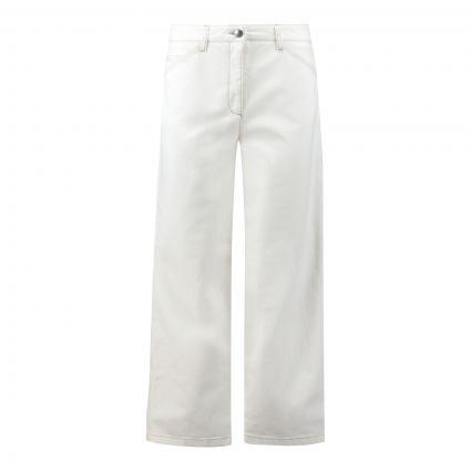 Verkürzte Wideleg Jeans ecru (103 chalk)   38