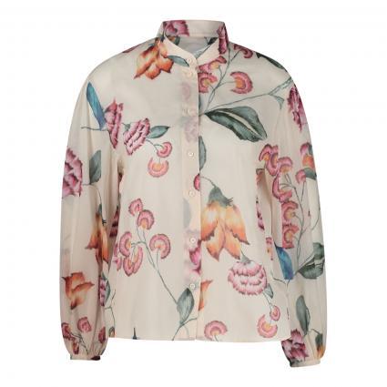 Bluse mit Flower-Print ecru (1039 white) | 40