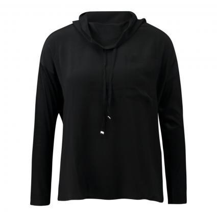 Blusenshirt aus Seidenmix schwarz (1 black) | 40
