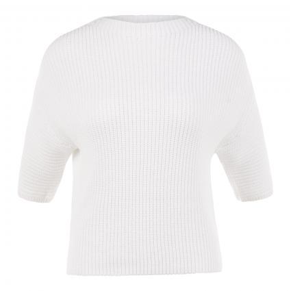 Pullover mit kurzen Ärmeln weiss (100 white) | 42