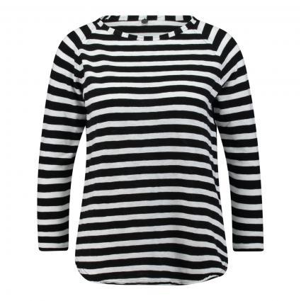 Langarmshirt in Streifen-Optik schwarz (890 black) | XL