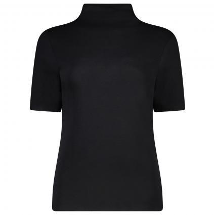 T-Shirt à encolure entonnoir noir (890 black) | S