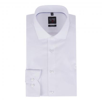 Body-Fit Hemd mit Strukturmuster weiss (00 weiss) | 42