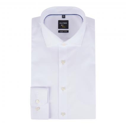 Slim-Fit Hemd mit Strukturmuster weiss (00 weiss) | 40