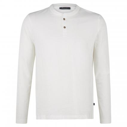 Langarmshirt mit Knopfleiste ecru (503 Off White) | 56