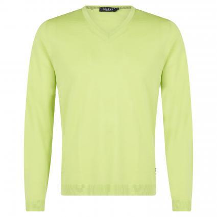 Pullover mit V-Ausschnitt grün (201 Acid Green) | 56